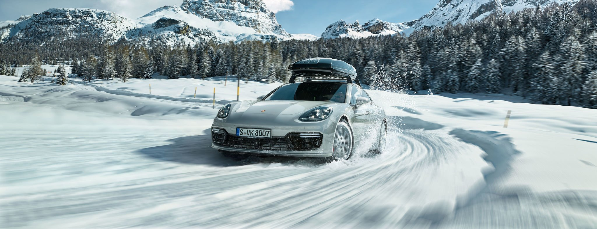 Porsche In Snow Driving