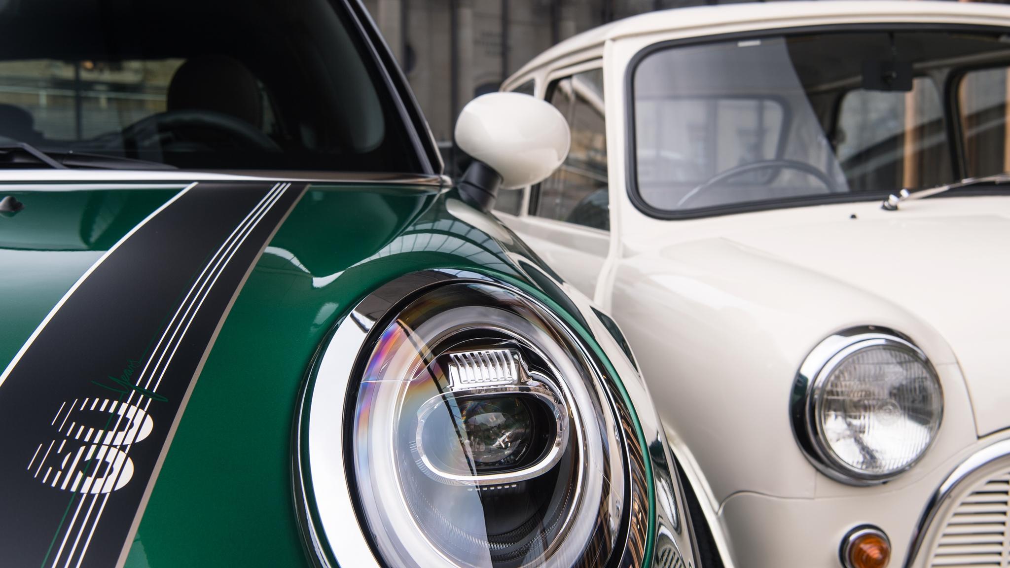 Old Mini and 60th Edition MINI Close Up