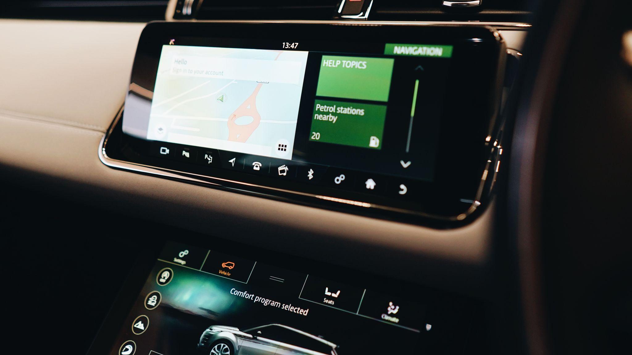 Range Rover Evoque Centre Infotainment