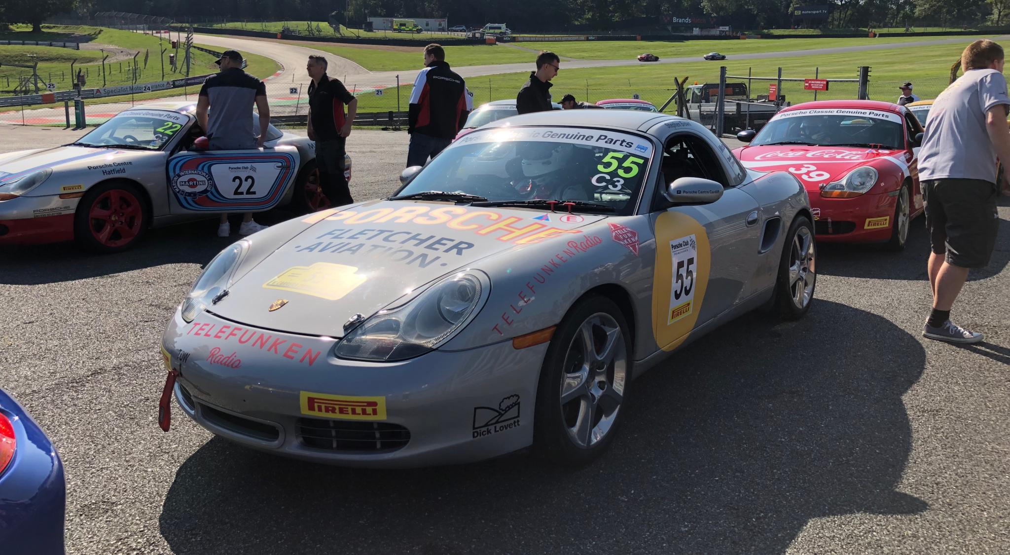 Dick Lovett Porsche's at Brands Hatch