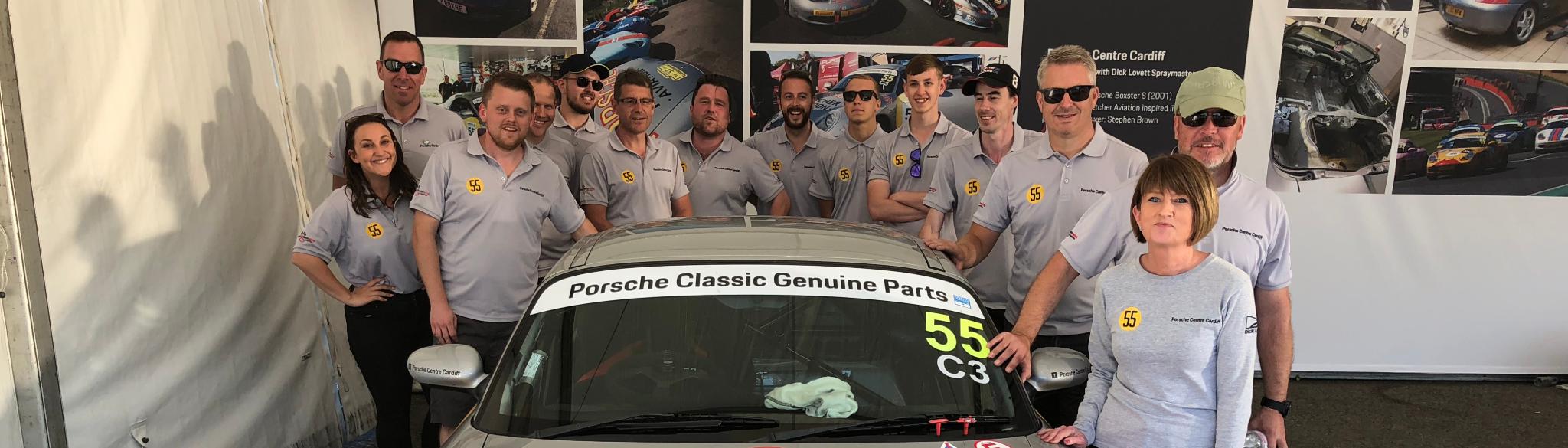 Dick Lovett Porsche Centre Cardiff Restoracing Team  at Brands Hatch