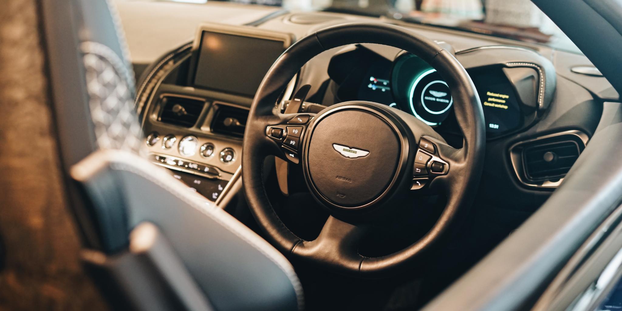 Aston Martin DBS Superleggera Volante Leather Steering Wheel