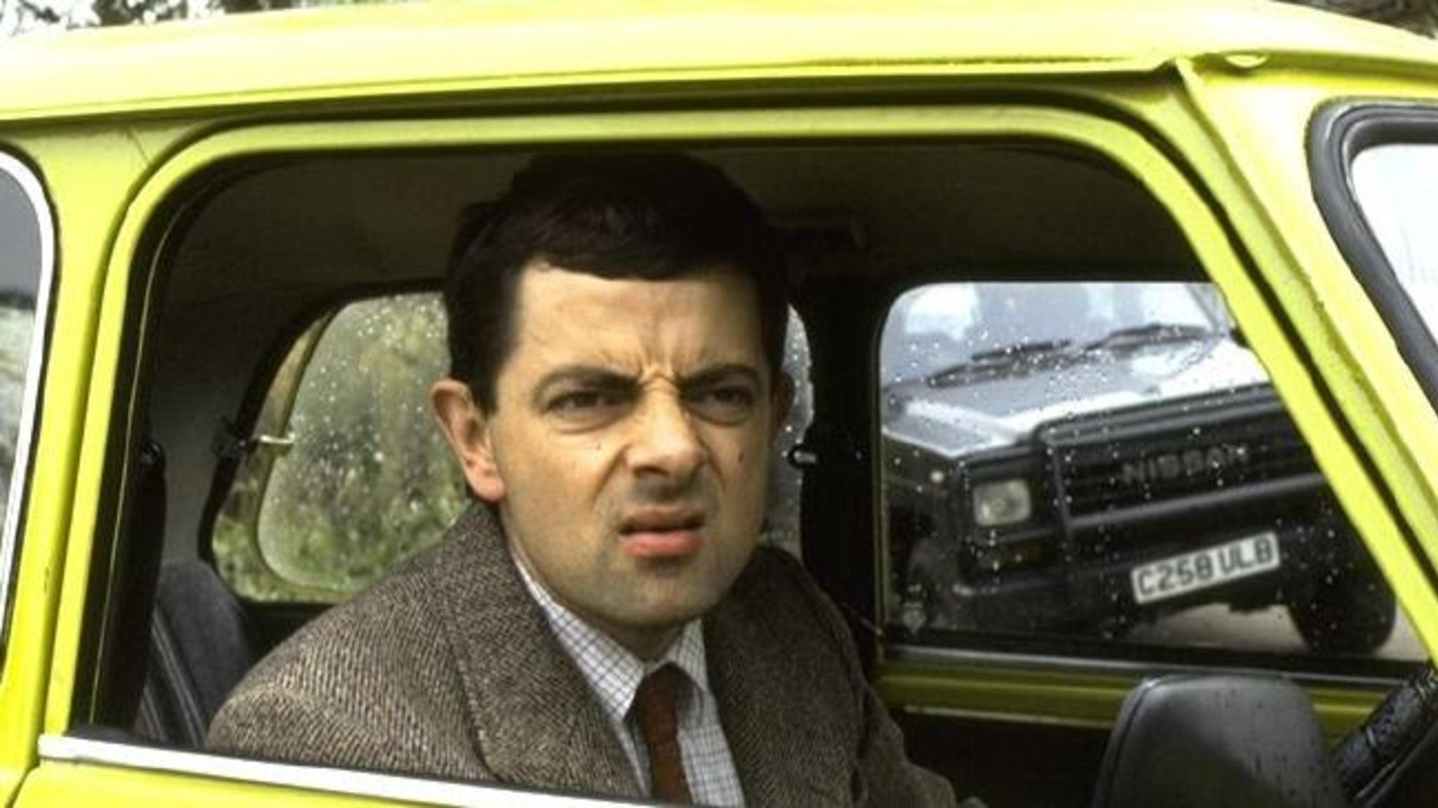 Mr Bean Sqinting