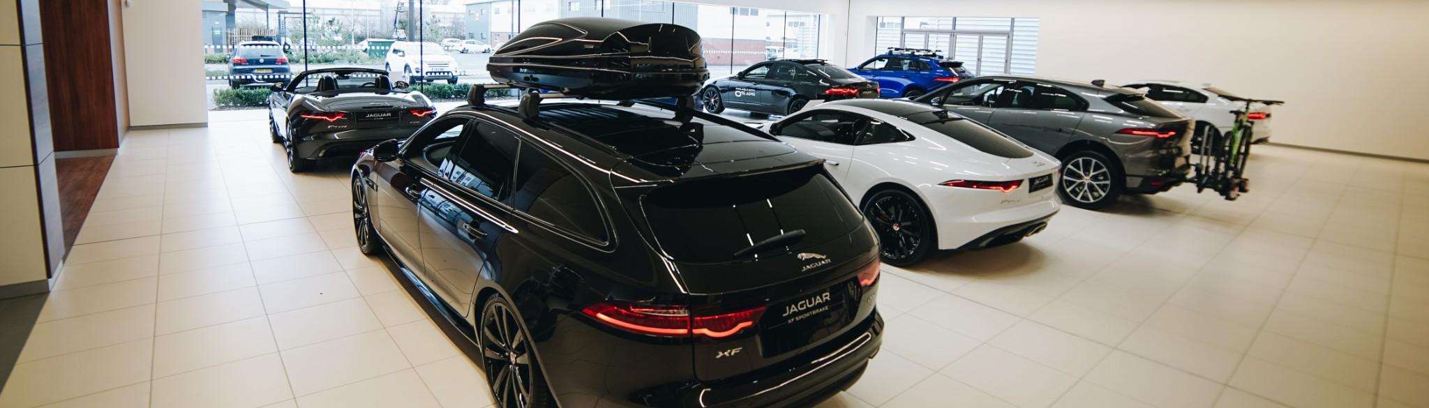 Inside Dick Lovett Jaguar Showroom Melksham