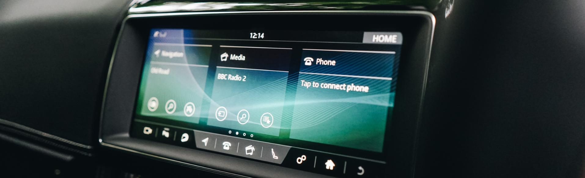 Jaguar F PACE Touch Screen