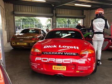 Porsche restoracing at oulton park preperation