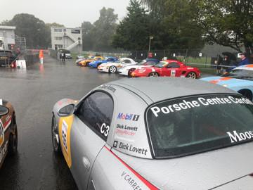 Porsche restoracing at oulton park sudden downpour