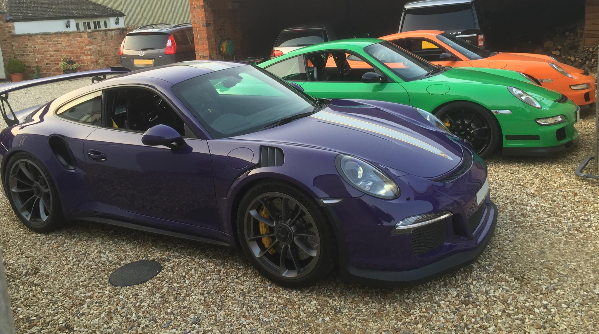 John Winsom GT3 with friends Porsches