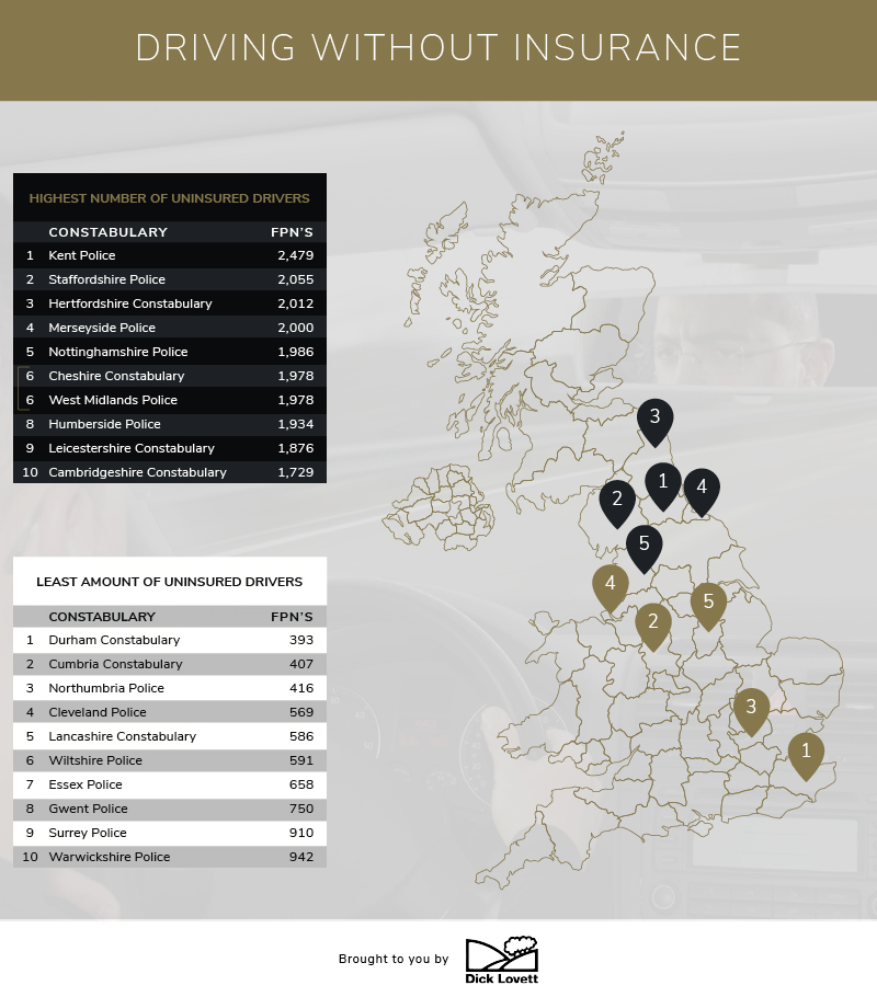 Uninsured driver hotspots