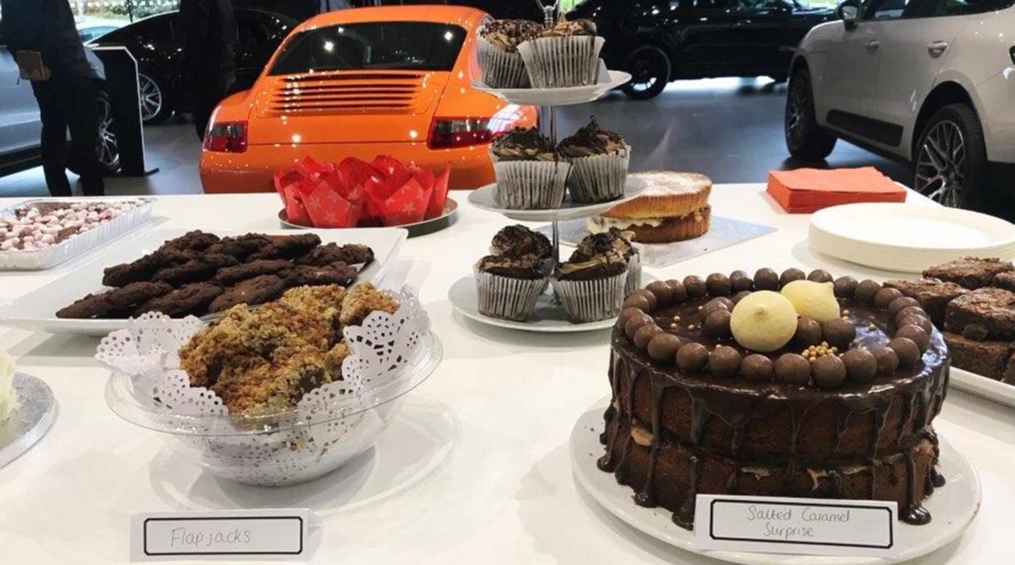 Myeloma UK Coffee Morning At Porsche Centre Swindon