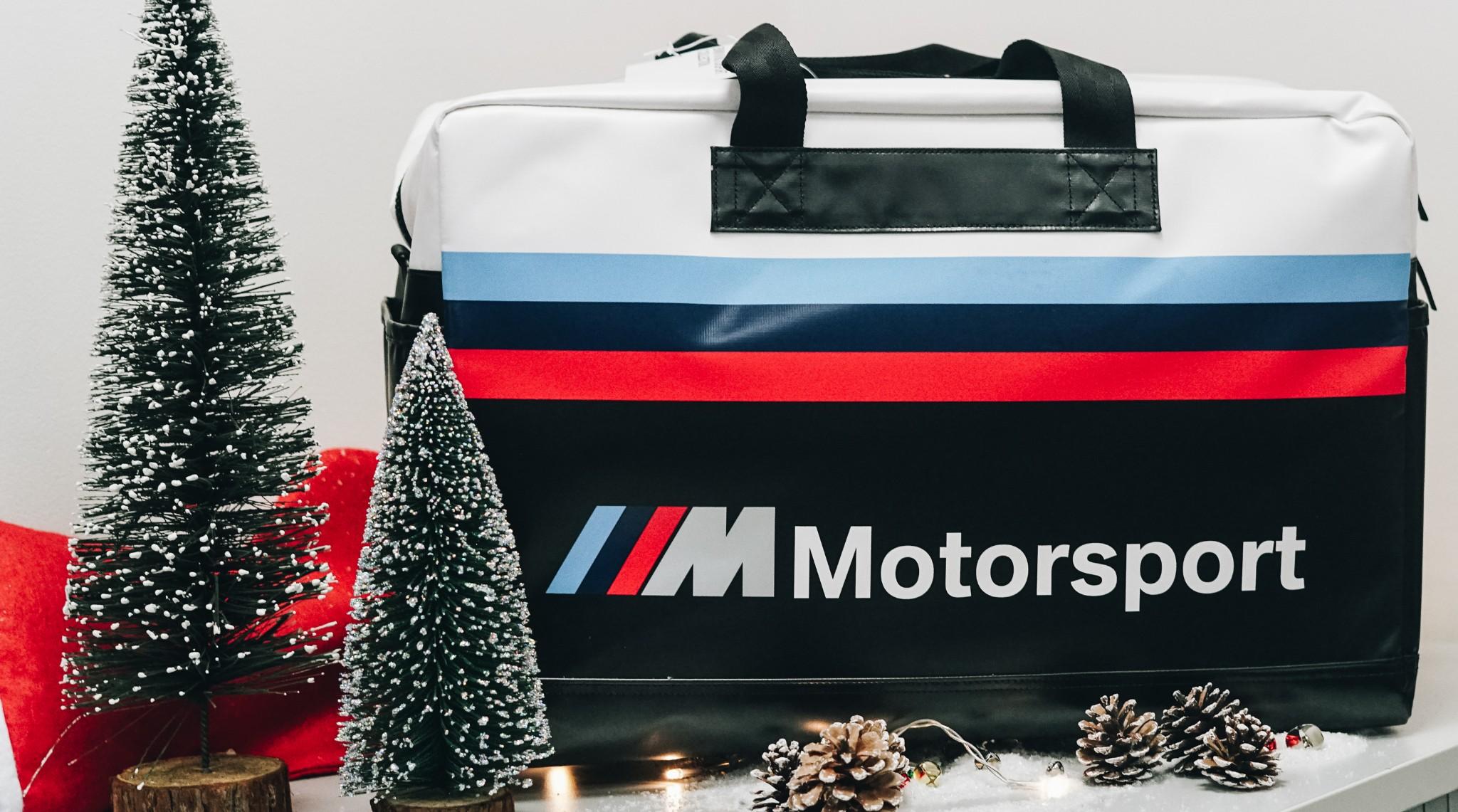 BMW modern duffel bag