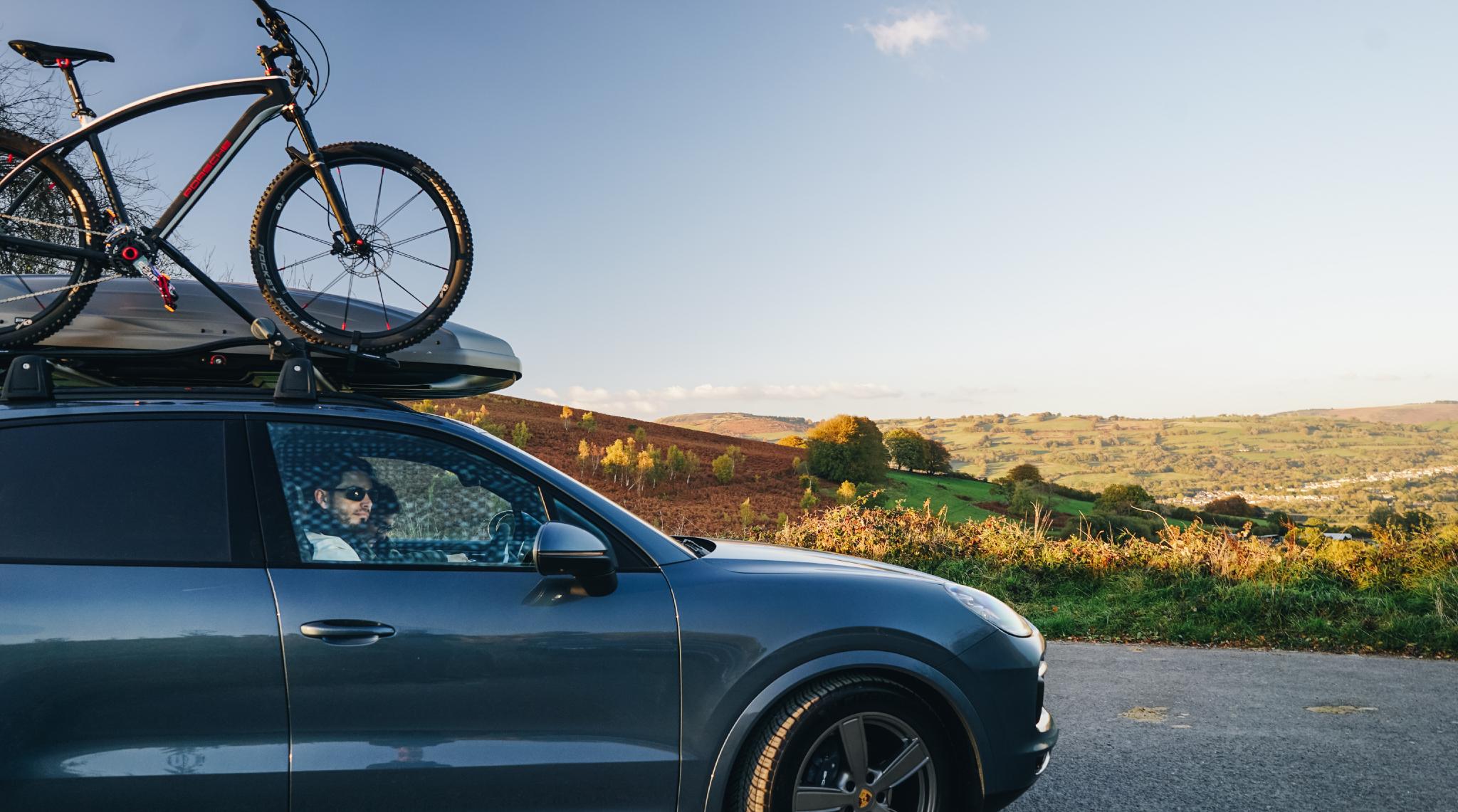 Porsche Roof Box   Bike Carrier
