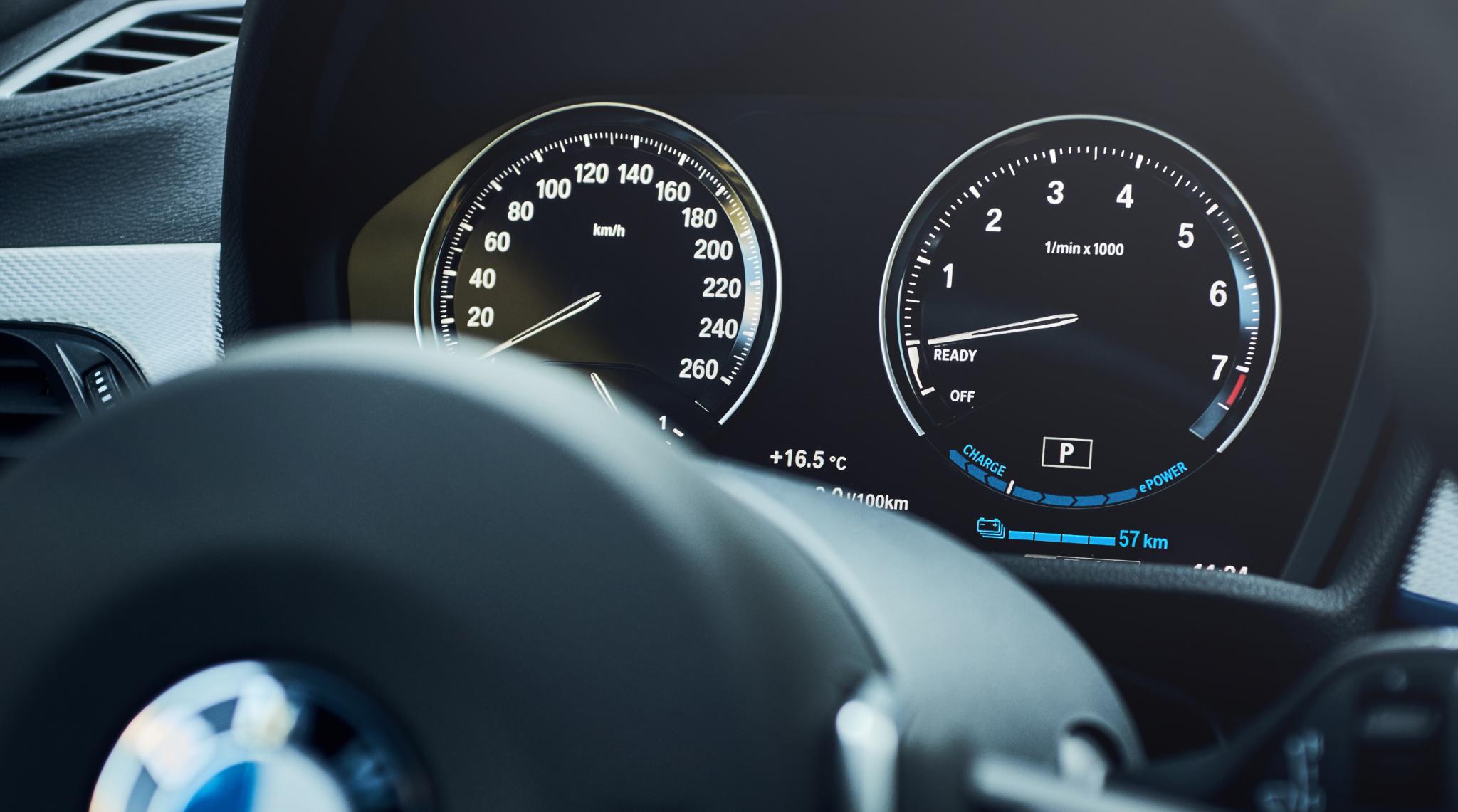 BMW X1 xDrive25e Display