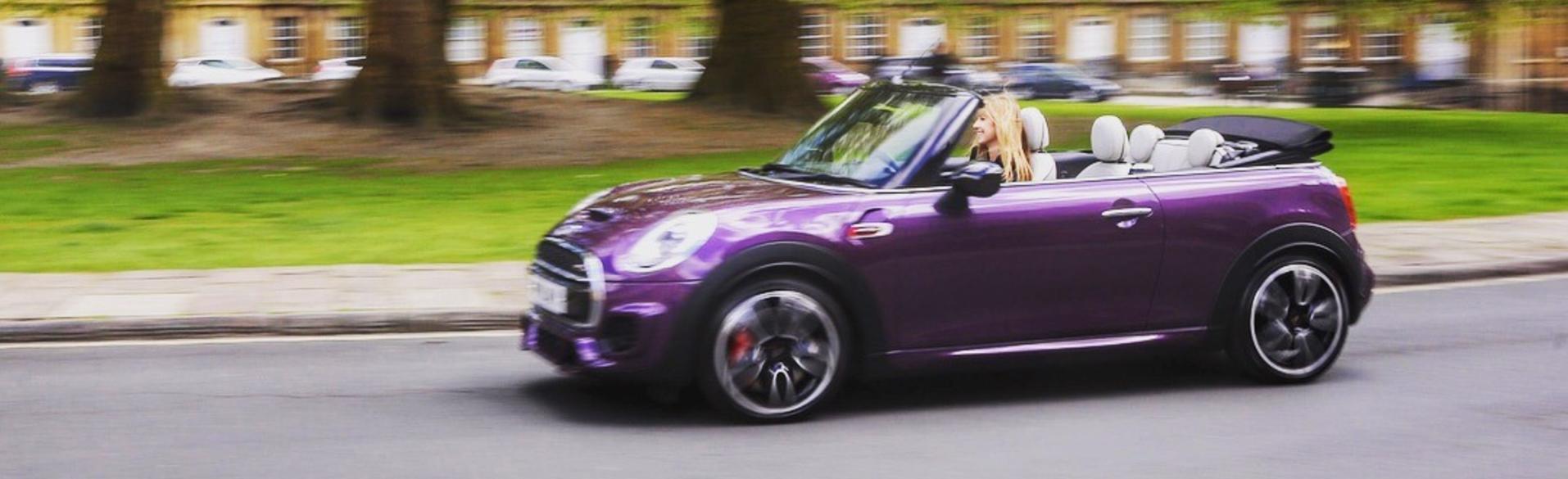 Purple Silk MINI Roof Down