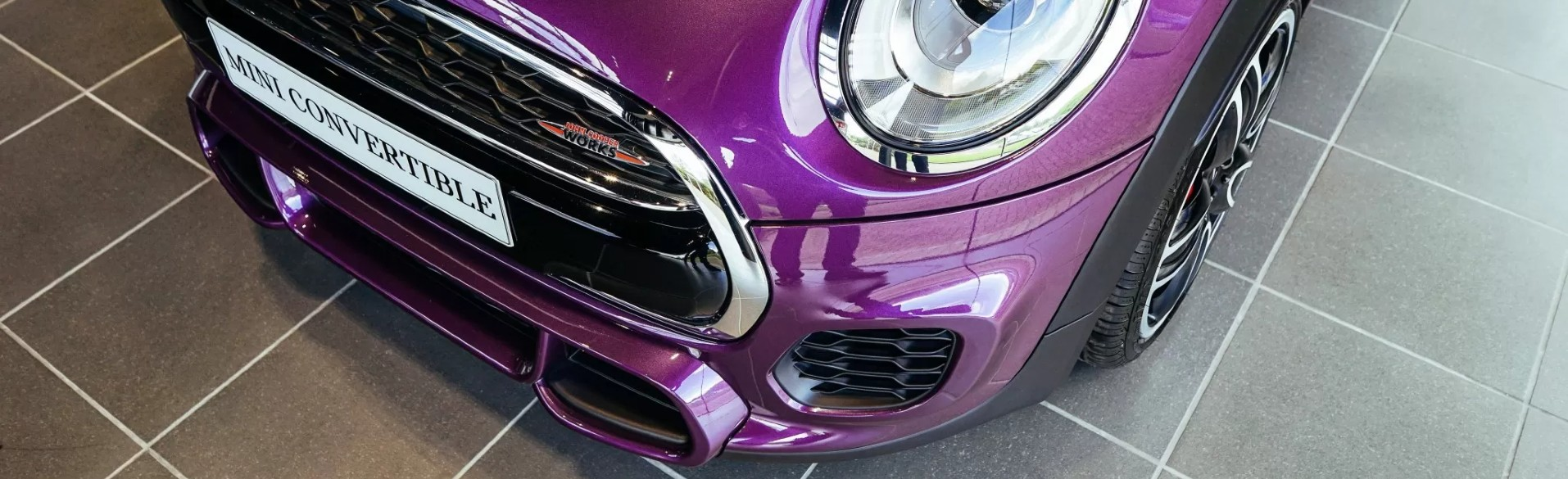 Purple Silk MINI JCW Convertible