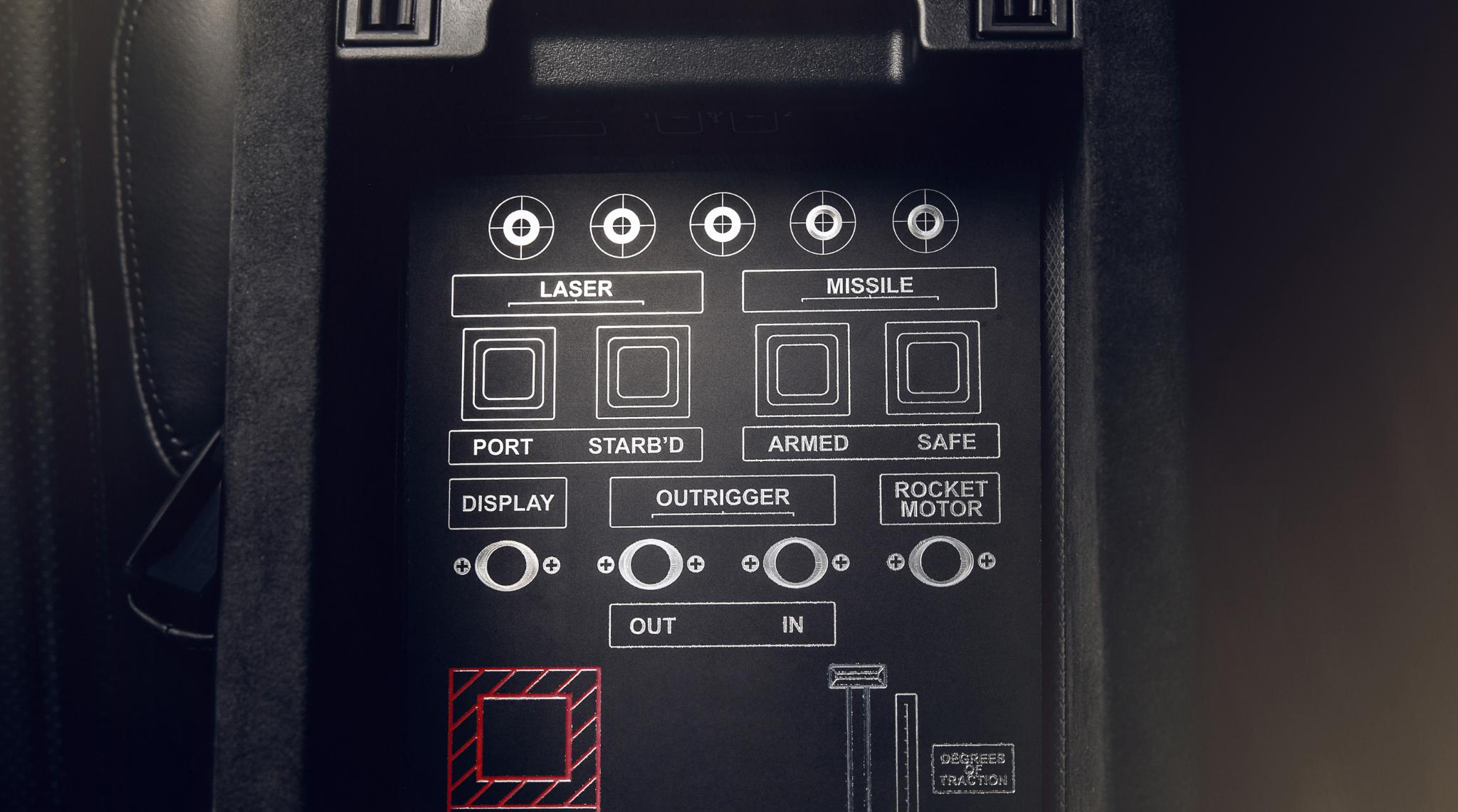 Aston Martin Vantage 007 Edition Laser Etched Panel