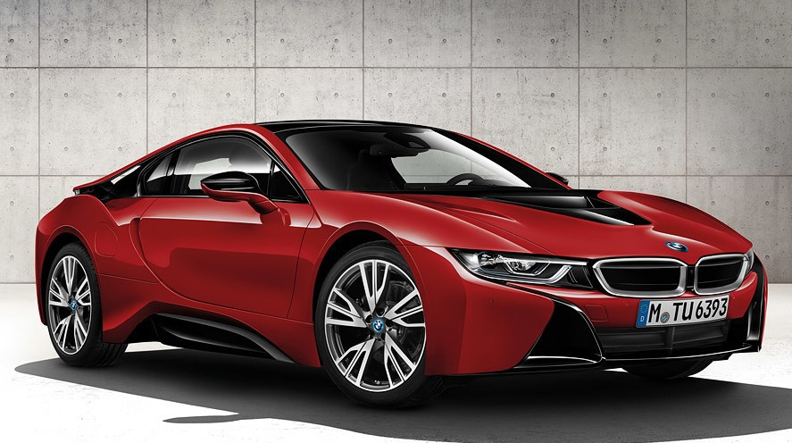 The BMW i8 Protonic Red Edition.