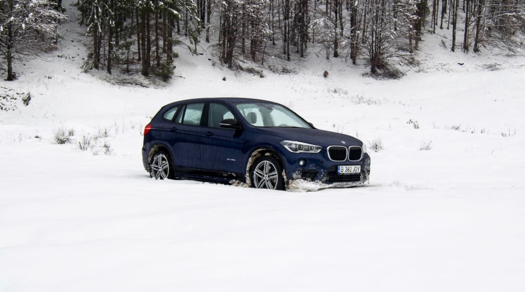 BMW In Snow