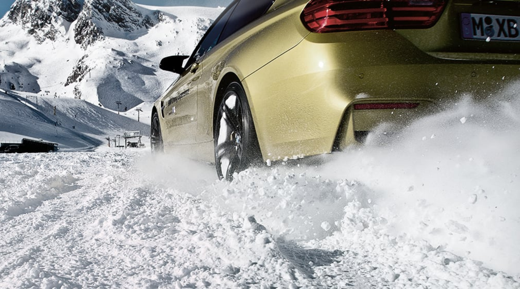 BMW Driving In Snow