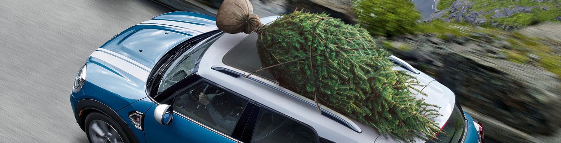 MINI Countryman Christmas Tree On Roof