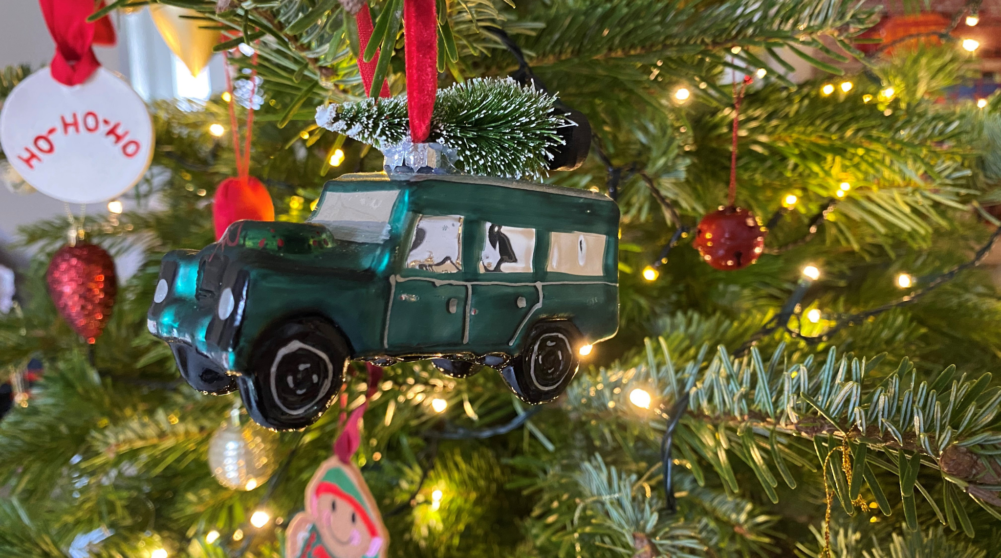 Land Rover Christmas Tree On Roof