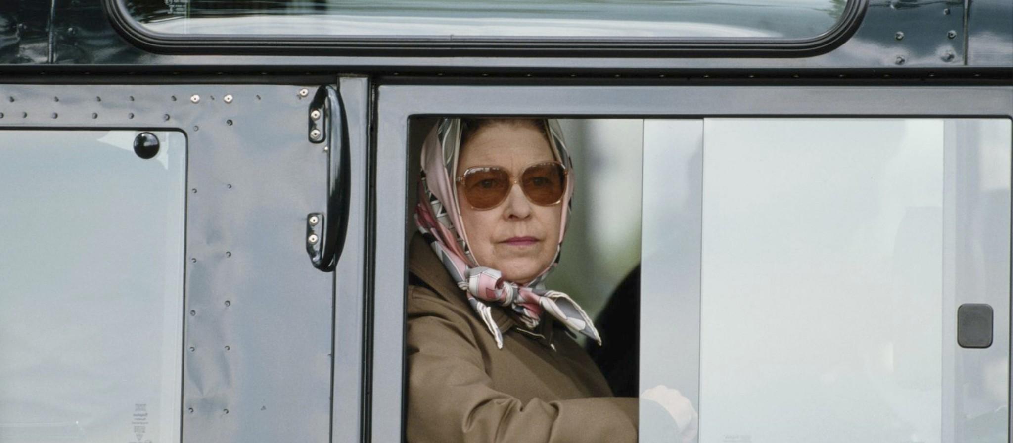 Queen Elizabeth Land Rover