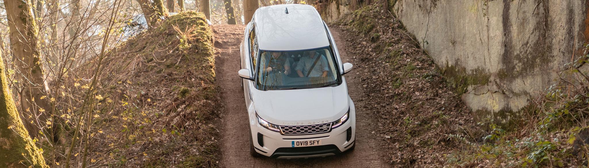 Range Rover Evoque Downhill Steep