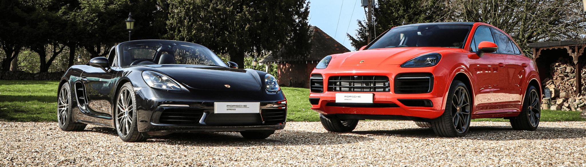 Porsche Cayanne and Porsche 718 Boxster (1)