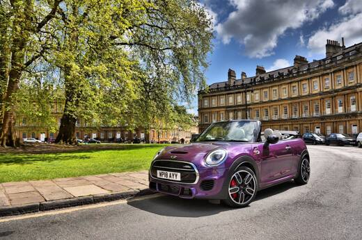 Stand Out From the Crowd With the Purple Silk MINI Convertible