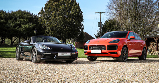 Porsche Cayenne and 718 Boxster - Two Car Garage