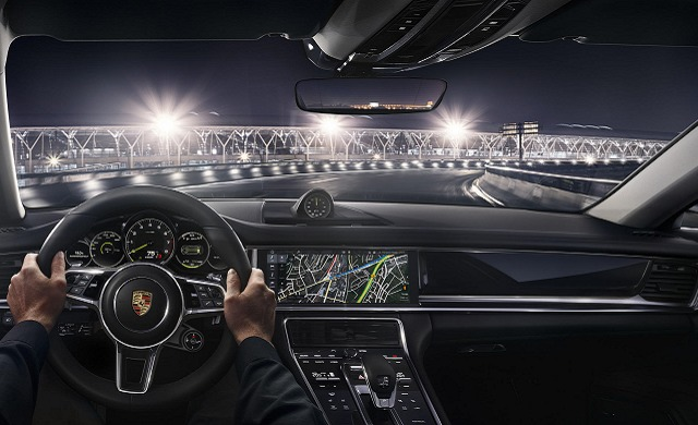 New Porsche Panamera E-Hybrid car