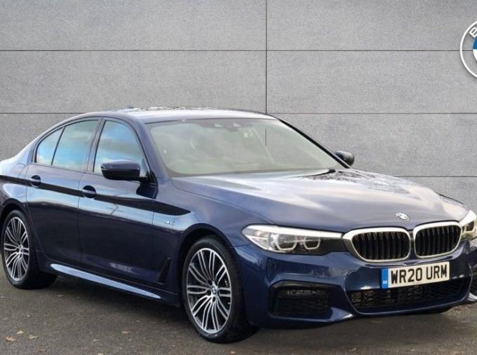 2020 BMW 530d M Sport Saloon (Blue) - Image: 1
