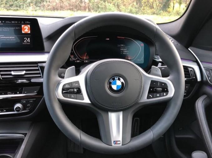 2020 BMW 530d M Sport Saloon (Blue) - Image: 8