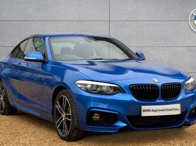 2020 BMW 218d M Sport Coupe (Blue) - Image: 1