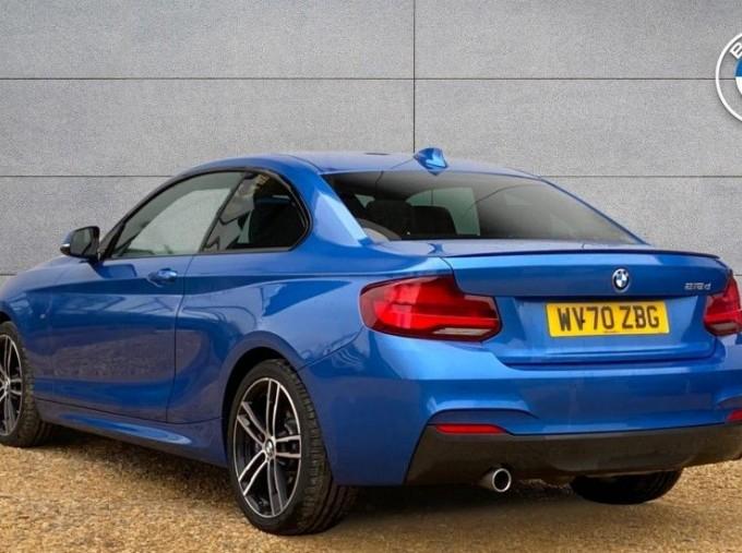 2020 BMW 218d M Sport Coupe (Blue) - Image: 2