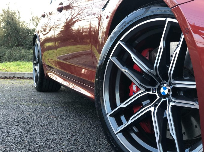 2021 BMW 4.4i V8 Competition Steptronic xDrive 4-door (Red) - Image: 17
