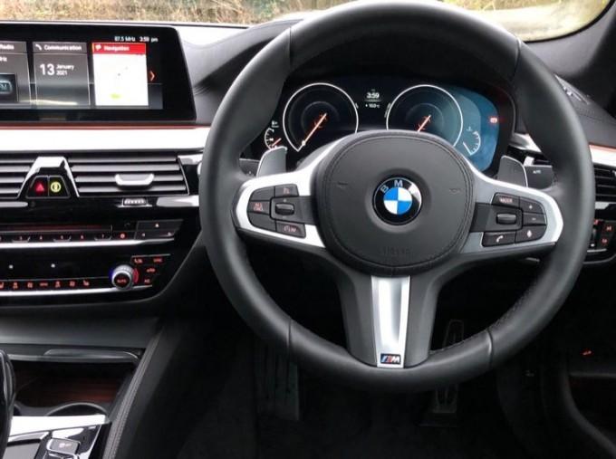 2019 BMW 520d M Sport Saloon (White) - Image: 5