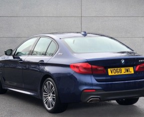 2018 BMW 530e M Sport iPerformance Saloon (Blue) - Image: 2