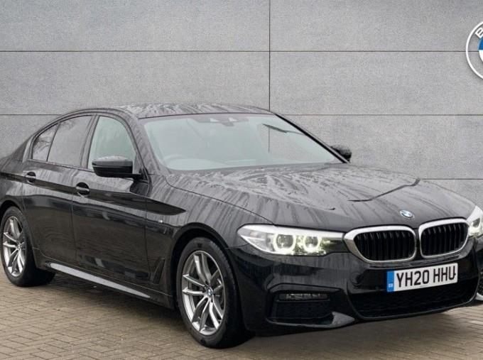 2020 BMW 520i M Sport Saloon (Black) - Image: 1