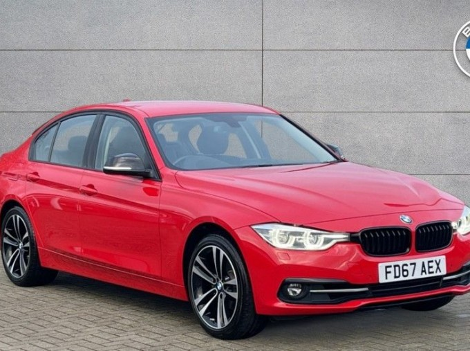 2017 BMW 320i Sport Saloon (Red) - Image: 1