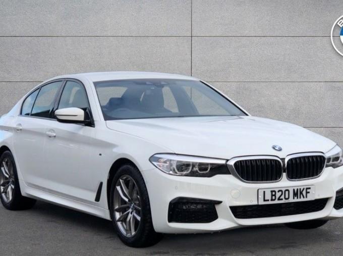 2020 BMW 520d M Sport Saloon (White) - Image: 1