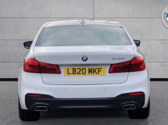 2020 BMW 520d M Sport Saloon (White) - Image: 15