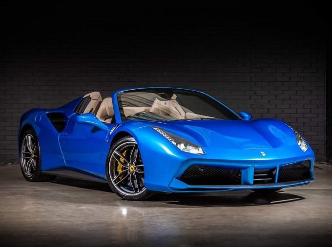 2016 Ferrari V8 Spider F1 DCT 2-door (Blue) - Image: 1