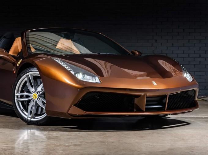 2018 Ferrari Spider 70th Anniversary (Brown) - Image: 9