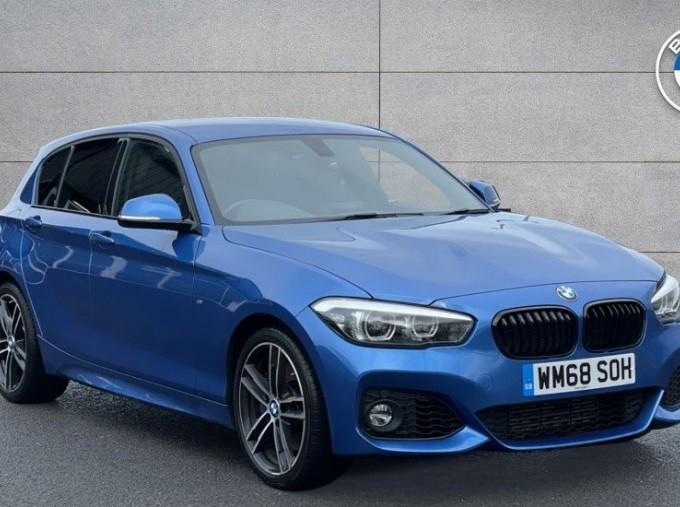 2019 BMW 118i M Sport Shadow Edition 5-door (Blue) - Image: 1