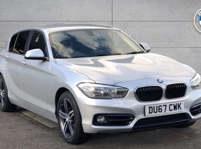 2017 BMW 118d Sport 5-door (Silver) - Image: 1