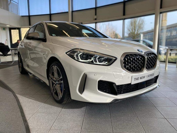2021 BMW M135i Auto xDrive 5-door (White) - Image: 1