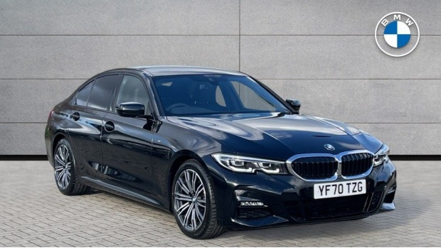 2020 BMW 320d M Sport Saloon (Black) - Image: 1