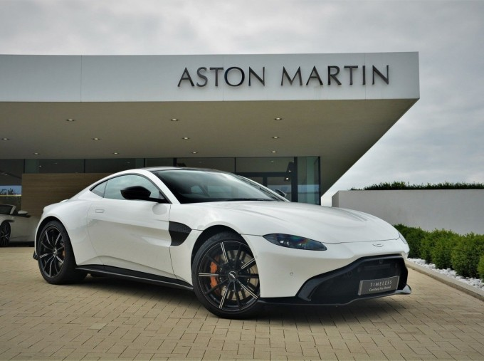 2019 Aston Martin V8 Auto 2-door (White) - Image: 1