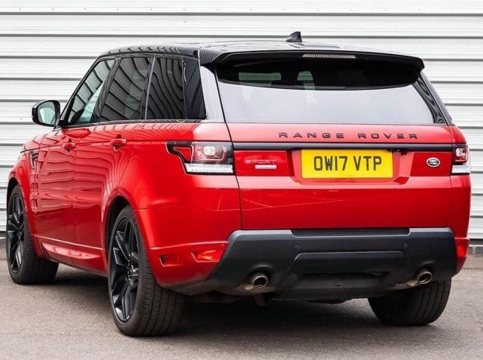 2017 Land Rover SD V8 Autobiography Dynamic CommandShift 2 5-door (Red) - Image: 2